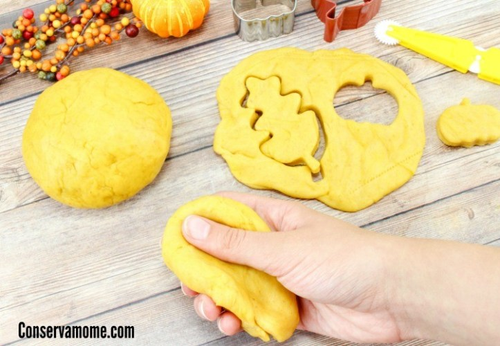 Edible Pumpkin Play-Dough