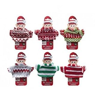 Elf on the Shelf knitted elf jumpers