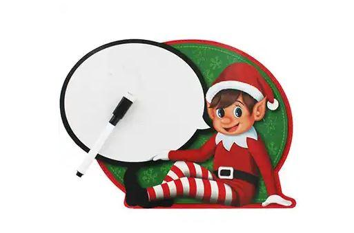 Elf on the Shelf message board from The Works in the UK