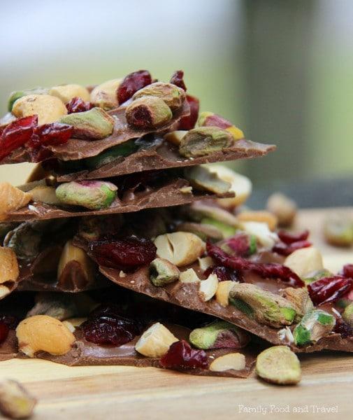cranberry pistachio christmas bark recipe