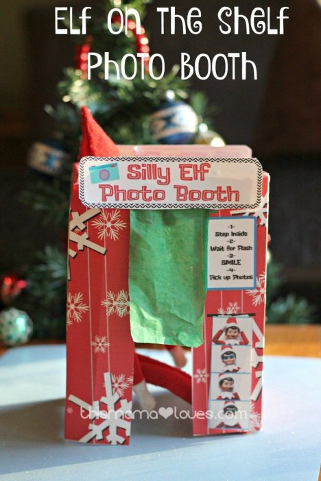 elf photo booth - elf on the shelf ideas that are easy