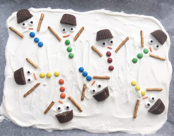 melted snowman bark for christmas