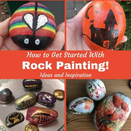 how to get started with painting rocks and pebbles - ideas for easy designs
