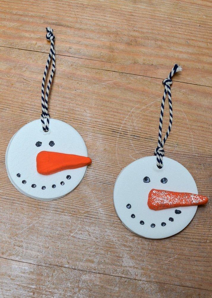 Christmas activity to make with kids - snowmen soda dough