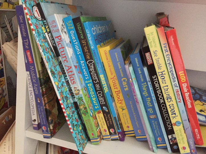 Usborne books on our shelf