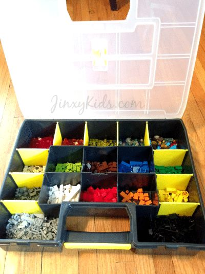 Lego Storage Using a Toolbox