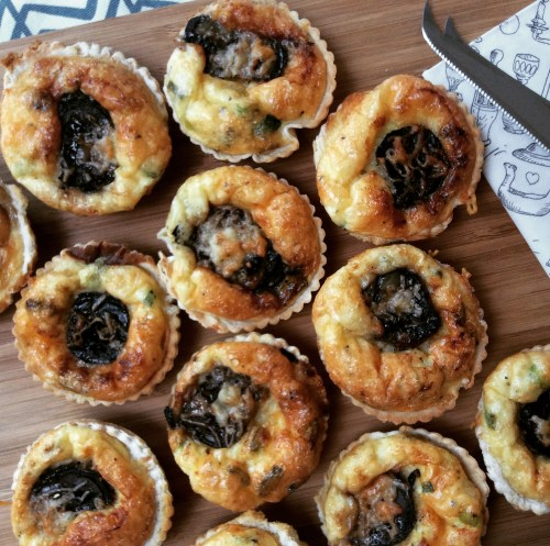 christmas party food and canape ideas - mini quiches