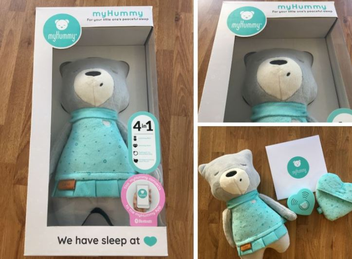 myhummy white noise teddy bear