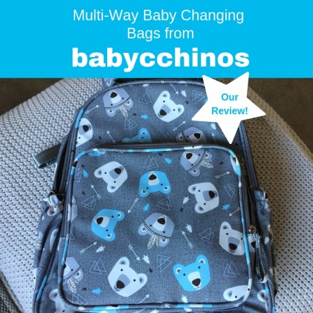 Babycchinos Backpack Changing Bags - Ideal for Out and About!