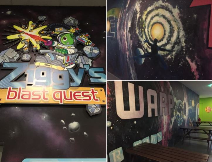 ziggys blast quest ride at milky way in devon