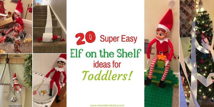 20 Easy Elf on the Shelf Ideas for Toddlers