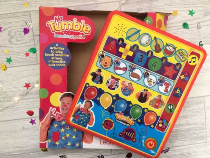 mr tumble something special learning pad gift guide and review and box
