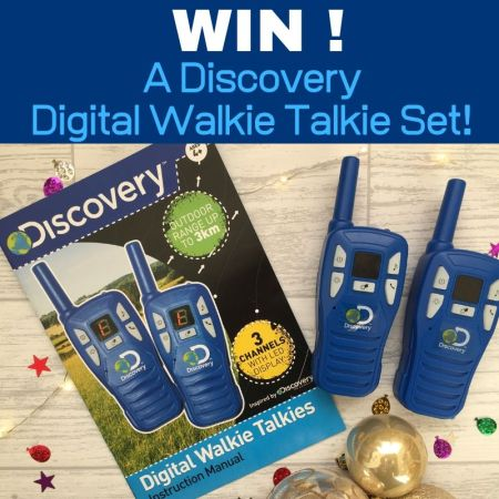 discovery walkie talkie set review and giveaway thumbnail