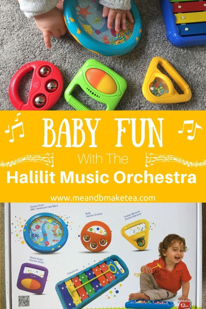 Halilit Toddler Music Orchestra pinterest image of toys and box