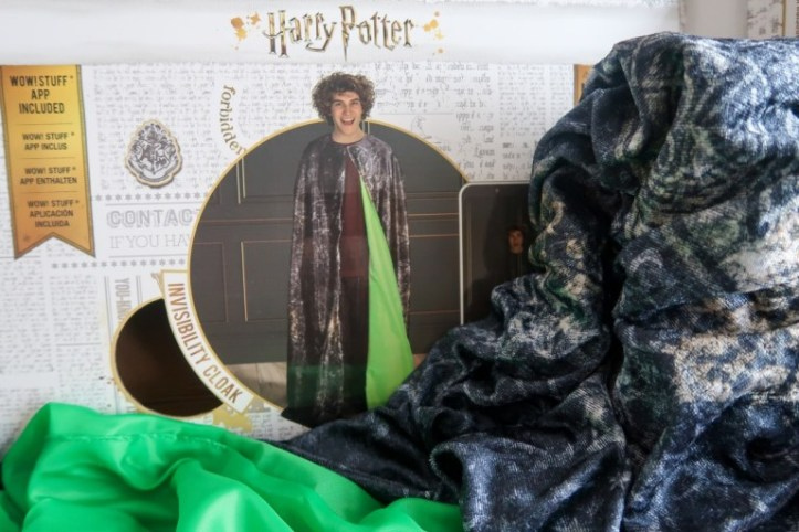 Harry Potter Invisibility Cloak in box with cape