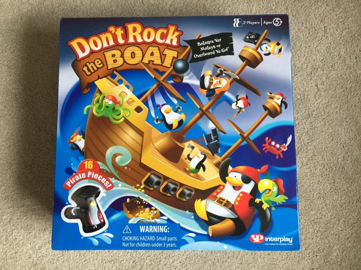 dont rock the boat board game in box