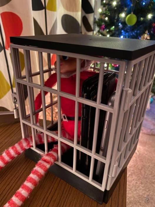 elf on the shelf in jail