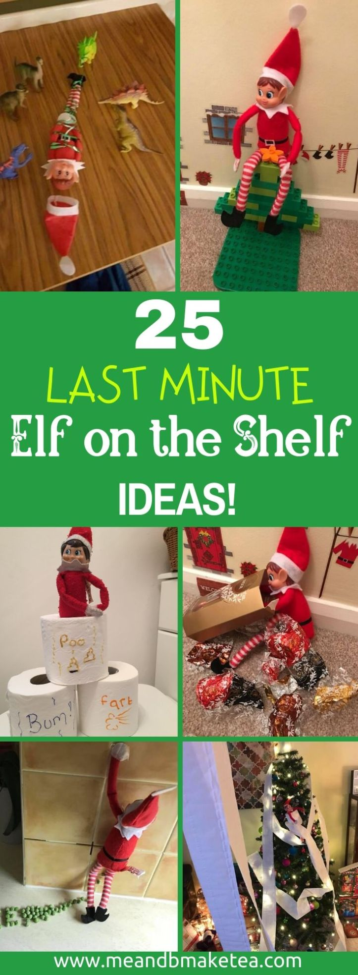 pinterest - 25 last minute elf on the shelf tricks and ideas to play