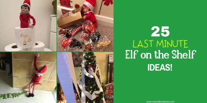 25 last minute elf on the shelf tricks and ideas to play twitter thumbnail