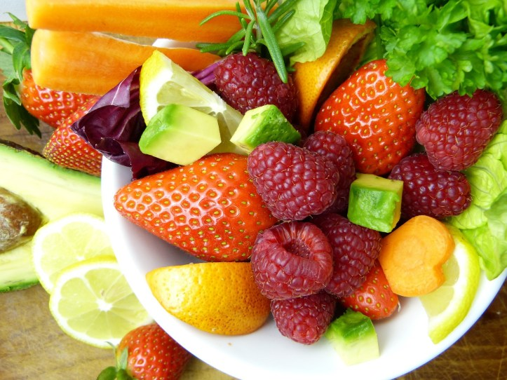 bowl of fruit for a vegan and plant based diet