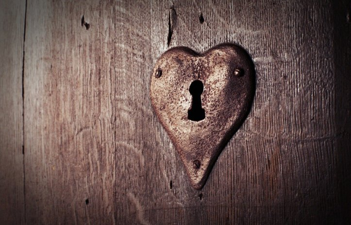 door and heart