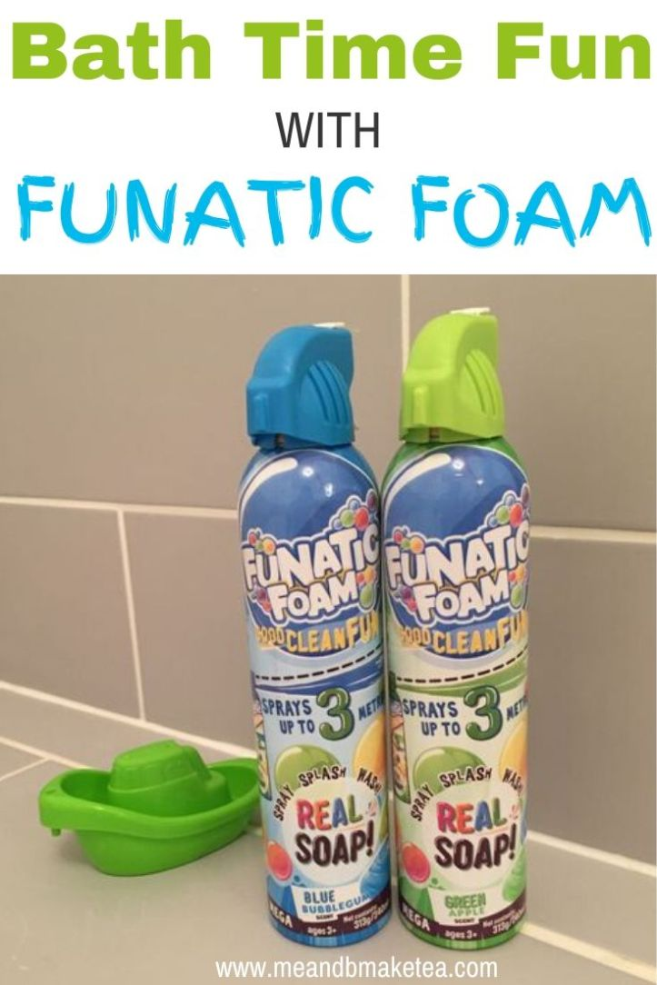 funatic foam review - fun for the bathroom and outdoor play