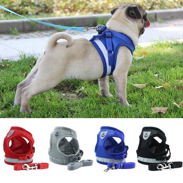 READY STOCK Dog Leash Vest Type Pet Chest Harness Reflective Dog Rope Pet Supplies