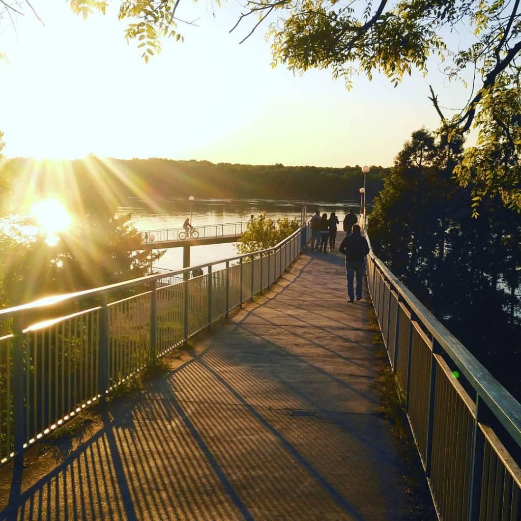 Danube boardwalk in Ruse