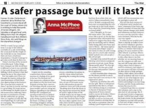 A Safer passage, but will it last? Christchurch Star 03-02-16