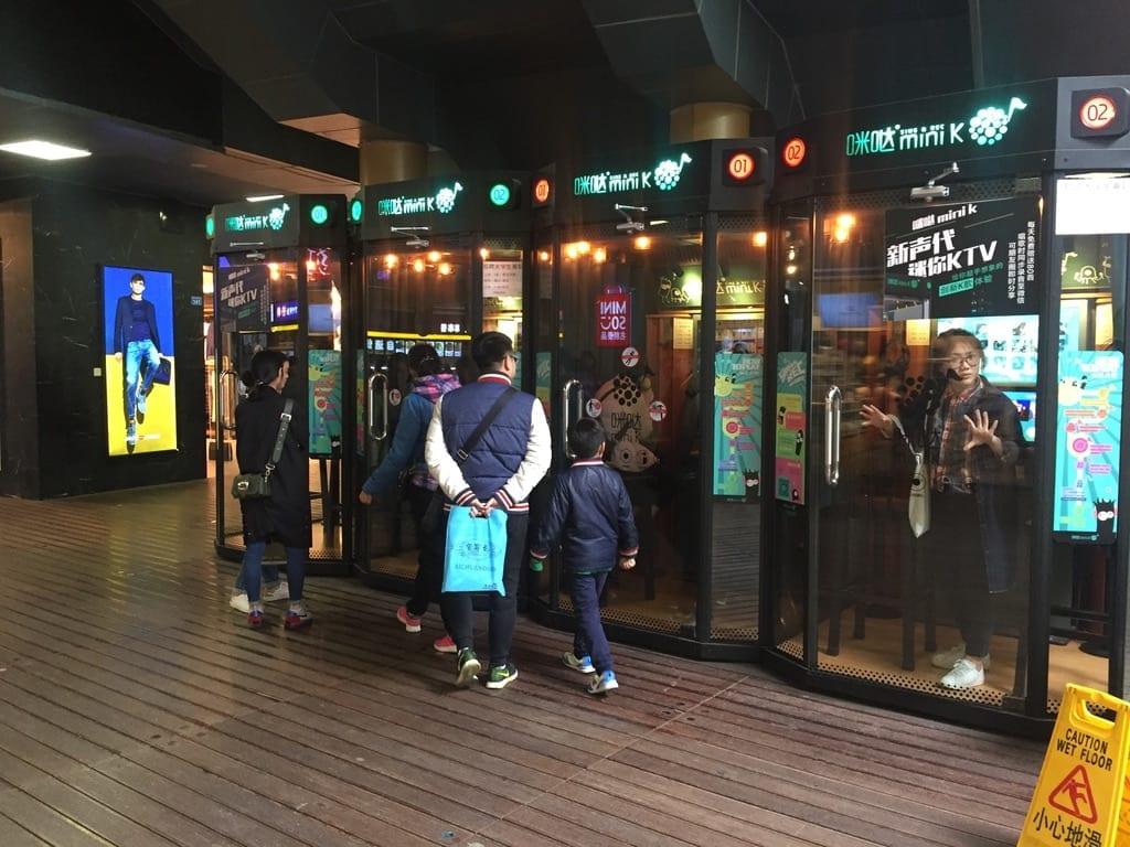 Karaoke booths in Chengdu
