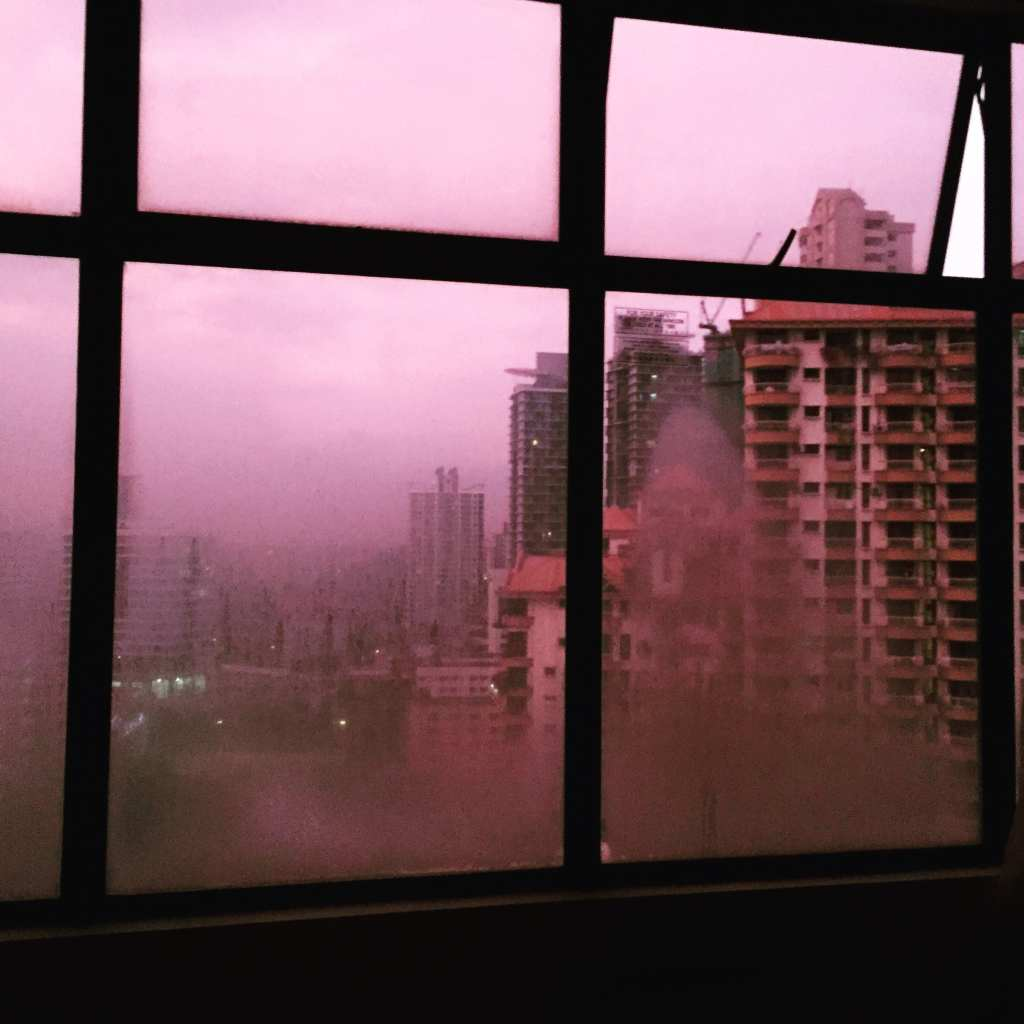 Steamy pink Malaysian skies