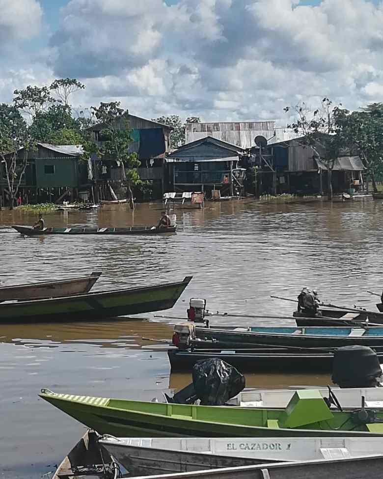 Lake trading on the Amazon river