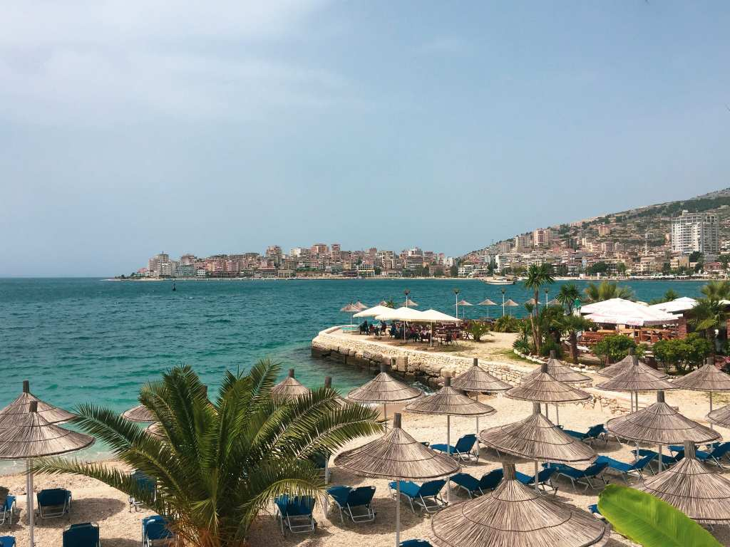 Sarandë - Lounging about, glazing out to the Ionion sea on the Albanian Riviera