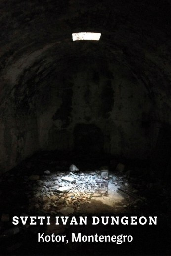 The dungeon at Sveti Ivan Fortress in Kotor, Montenegro