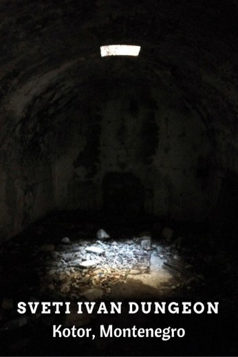 The dungeon at Sveti Ivan Fortress in Kotor, Montenegro