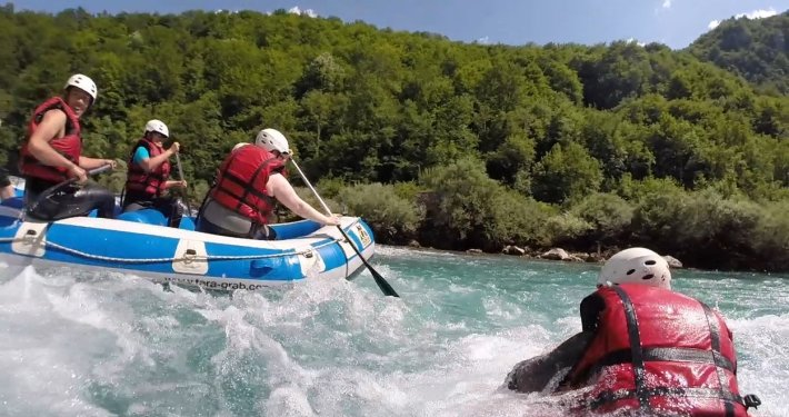 Rafting and hydrospeeder on Tara River in Montenegro