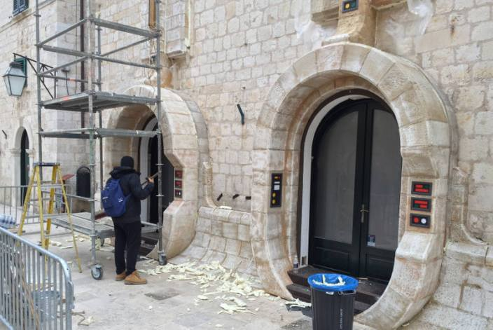 Star Wars Dubrovnik set being cleaned up