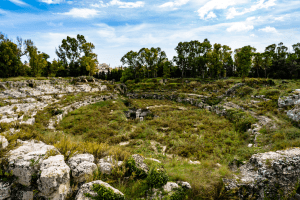 Archaeological Park in Syracuse Italy (Sicily)