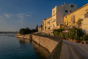Syracuse Italy at Sunset (Sicily)