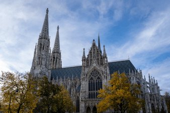A beautiful gothic church in Vienna Austria