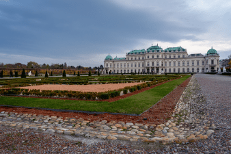 From the grounds of the Belvedere Palace in Vienna Austria