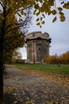 View the amazing war tower in Augarten park, Vienna Austria