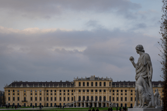 A view from the Schonbrunn grounds in Vienna Austria