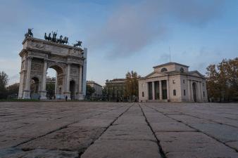 Arco della Pace in Milan Italy