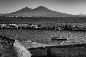 A view from the coast of Naples Italy