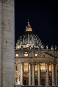 A look at St. Peter's Basilica in Vatican City, Italy