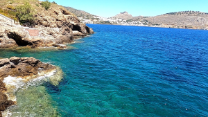Video – Some of Leros Greece slightly more secluded coast – June 28, 2020