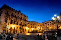 A look at the city of Palermo Sicily at night