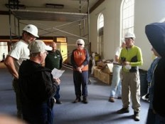 Just like at the Tacoma build, everyday began with a devotional of some sort