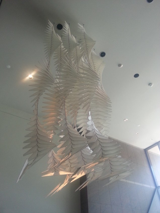 A dry cleaners dream - a sculpture made entirely of wire & paper hangers!